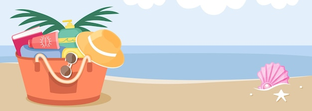 ビーチでバッグに日光浴アイテム