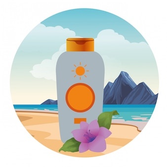 Sun bronzer bottle cosmetic product