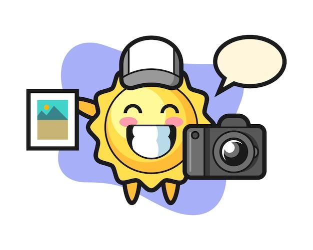 写真家としての太陽の漫画