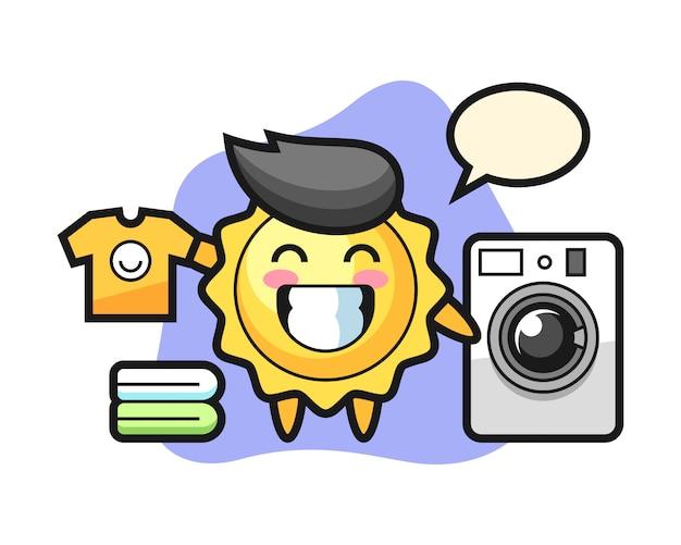 Sun мультфильм со стиральной машиной