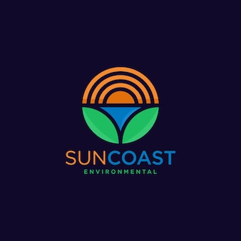 Sun coast environmental logo design.