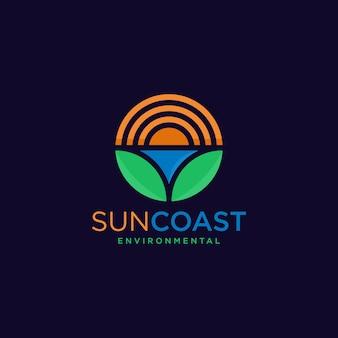 Sun coast экологический дизайн логотипа.