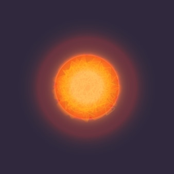 Sun in deep space icon