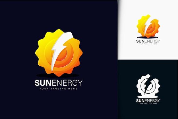 グラデーションと太陽エネルギーのロゴデザイン