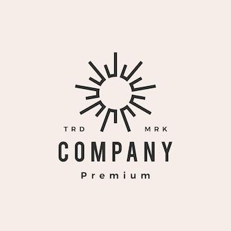 Sun flare light hipster vintage logo