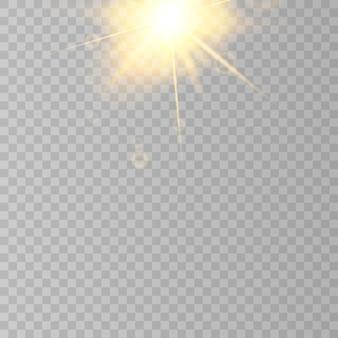 Sun flare  on transparent background