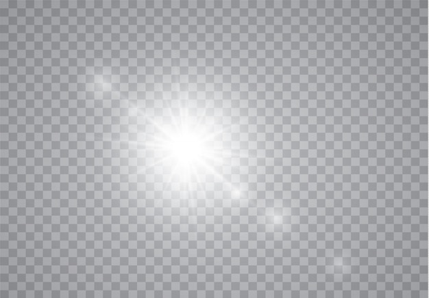 Sun flash with rays.
