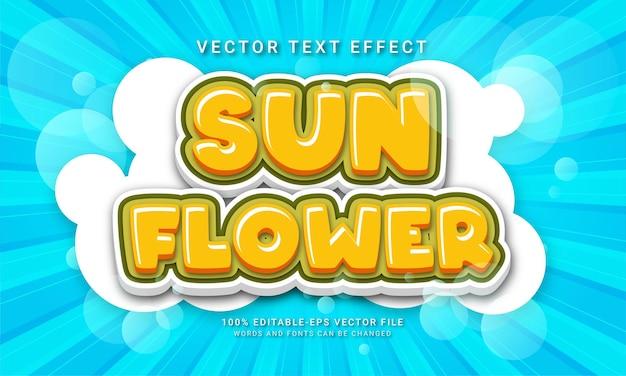 Sun flower editable text effect with flower garden theme