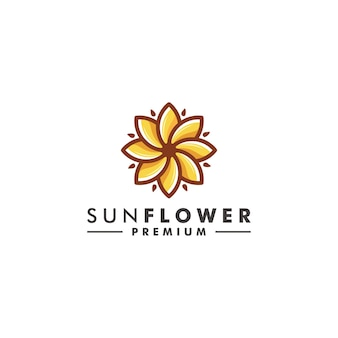 Солнце цветок дизайн логотипа природа значок вектор