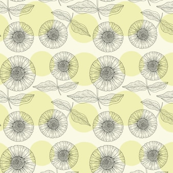 Sun flower repeat pattern