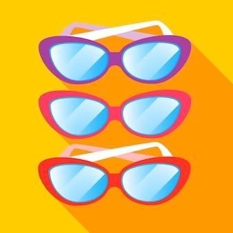 Sun glasses summer colorful sunglasses set