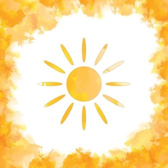 Значок солнца на белом фоне