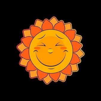 Sun icon, summer sun weather symbol