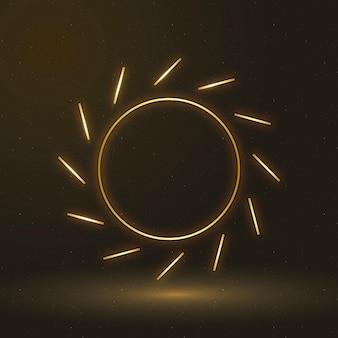 Sun icon vector renewable energy symbol