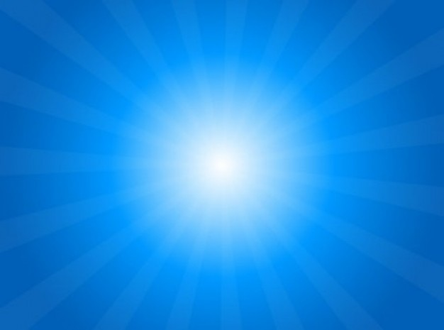 サンバーストと空の太陽