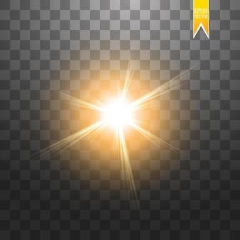 透明な背景に分離された太陽