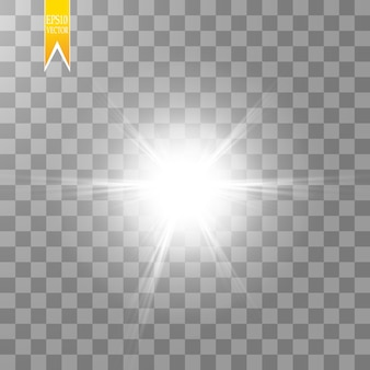 Sun isolated on transparent background