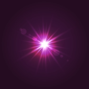 Sun light with lens flare effect