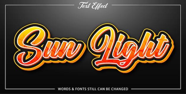 Sun lights text effect