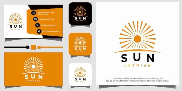 Sun logo design vector