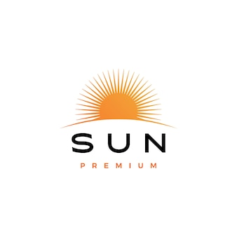 Sun logo icon illustration