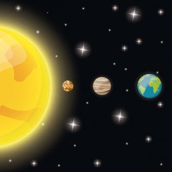 Солнце ртуть венера земля звезды пространство