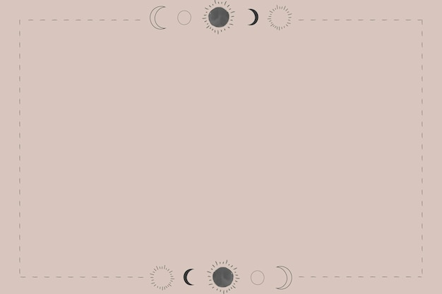 Sun and the moon on a beige background