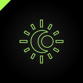 Sunとmoonのロゴ。抽象的なイラスト
