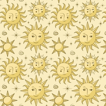 태양 패턴 손으로 그린