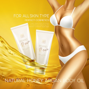Sun protection cosmetic products design template.