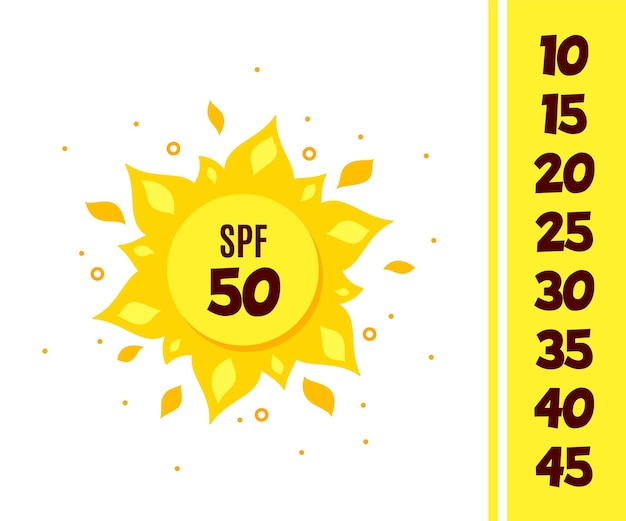 Sun protection icon isolated on white background. Premium Vector