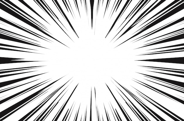Sun rays for comic books radial background