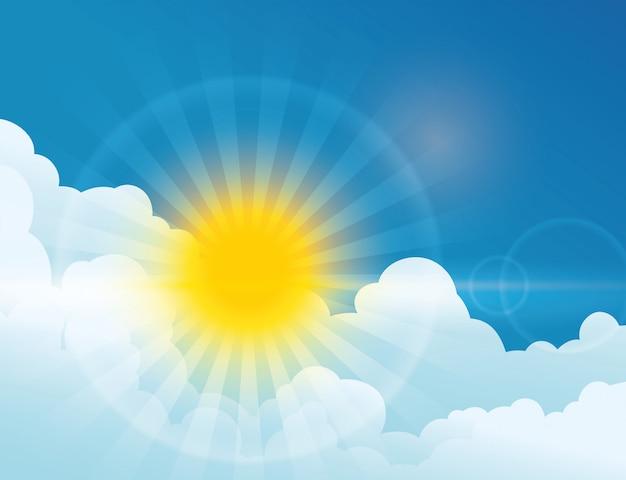 Sun rays design.