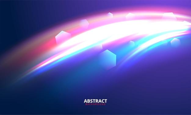 オーバーレイデザインの青い背景に分離された太陽光線