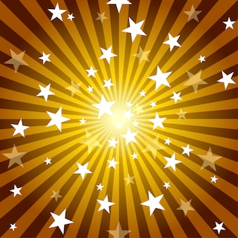 Sun rays and stars background