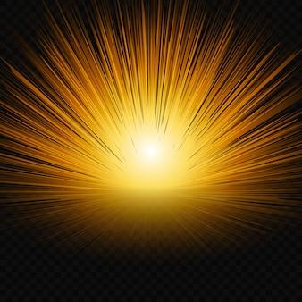 Sun shine glow light.