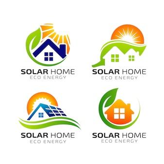 Sun solar energy logo design template