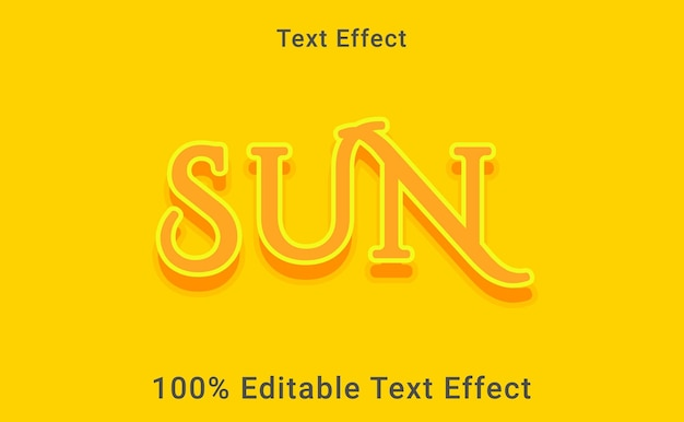 Эффект текста солнца, редактируемый на 100%