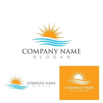 Солнце векторные иллюстрации значок логотипа шаблон дизайна