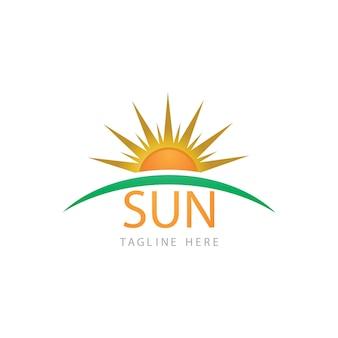 太陽ベクトルイラストアイコンロゴテンプレートデザイン
