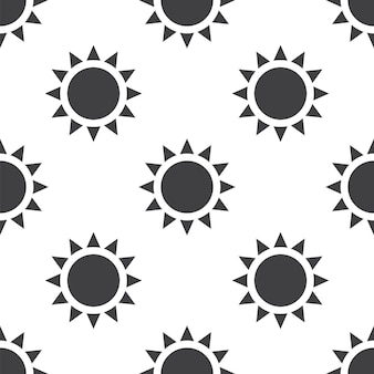 Sun, 벡터 원활한 패턴, 웹 페이지 배경, 패턴 채우기에 편집 가능을 사용할 수 있습니다.