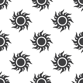 Sun, vector seamless pattern, editable can be used for web page backgrounds, pattern fills