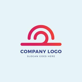 Шаблон дизайна логотипа sun wave