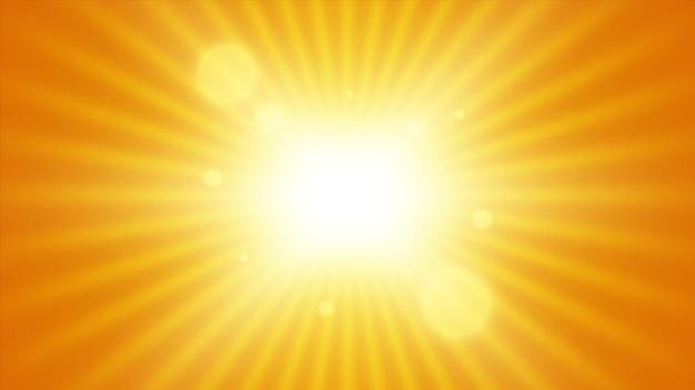 太陽光線の背景。光線のある太陽。抽象的なベクトル爆発。 Premiumベクター