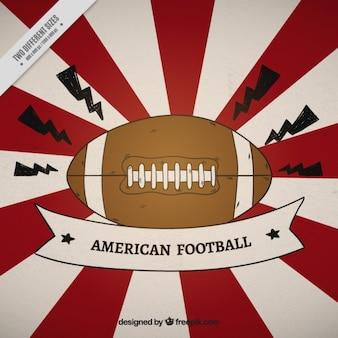 Sunburst background of american football