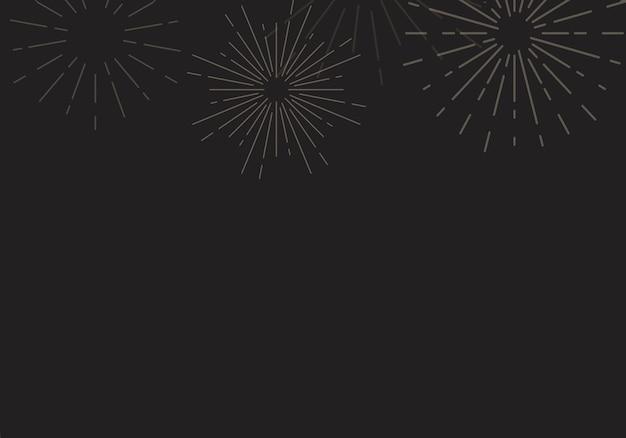 Sunburst background design in black vector