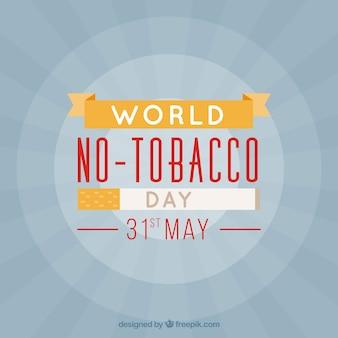 Sfondo sunburst per nessun giorno di tabacco