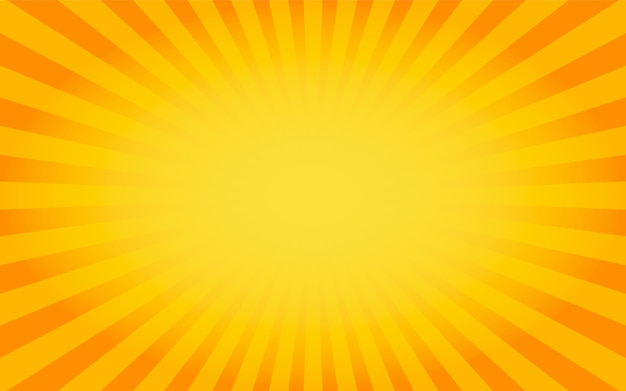 Sunburst background orange