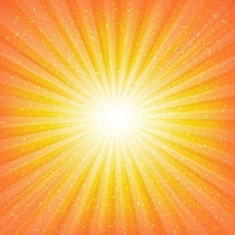 Sunburst background with stars with gradient mesh,  illustration