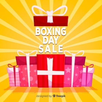Sunburst boxing day sale background